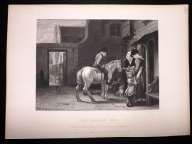 After David Wilkie C1870 Antique Print. The Errand Boy. Horse
